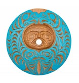 Spindle Whorl - Moon and Eagles with Salmon Design by Joel Good (Nanaimo).