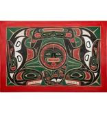Orca and Sun Wall Panel by Lawrence Scow (Kwakwakawakw).