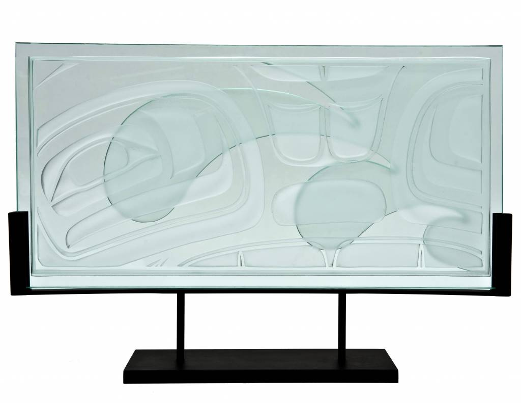 Sea Chief Glass Panel by Corey Bulpitt (Haida)