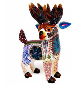 White Deer Alebrije by Luis Sosa