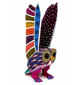 Large Owl Alebrije with Marble Eyes