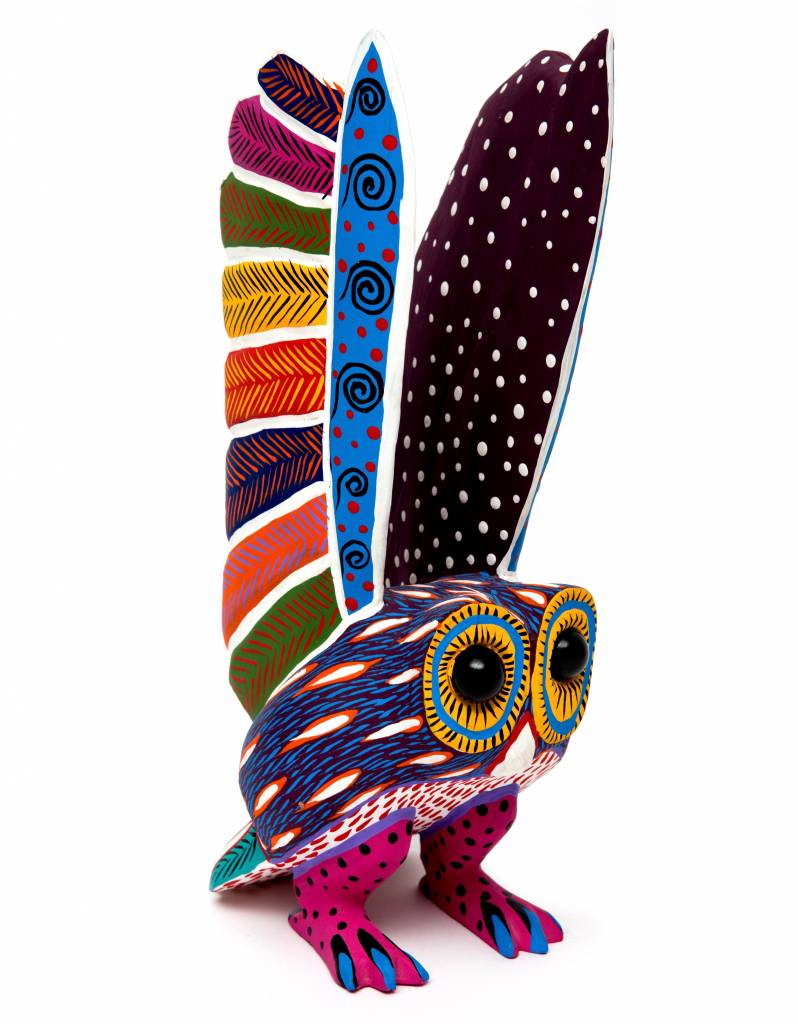 Large Owl Alebrije with Marble Eyes  (Zapetec)