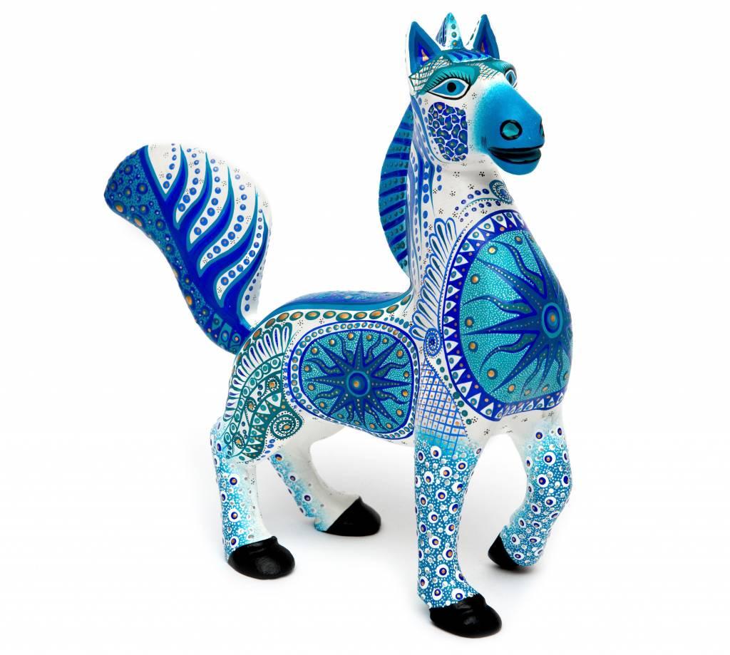 Blu Horse Alebrije by Luis Sosa (Zapotec)