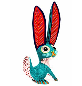 Rabbit Alebrije with Marble Eyes