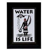 Framed Pregnant Woman (Water is Life) print by Christine Belcourt