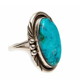 Natural Blue Diamond Ring by Ruth Ann Begay