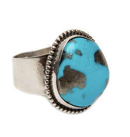 Natural Kingman Turquoise Ring by Bryant Martinez