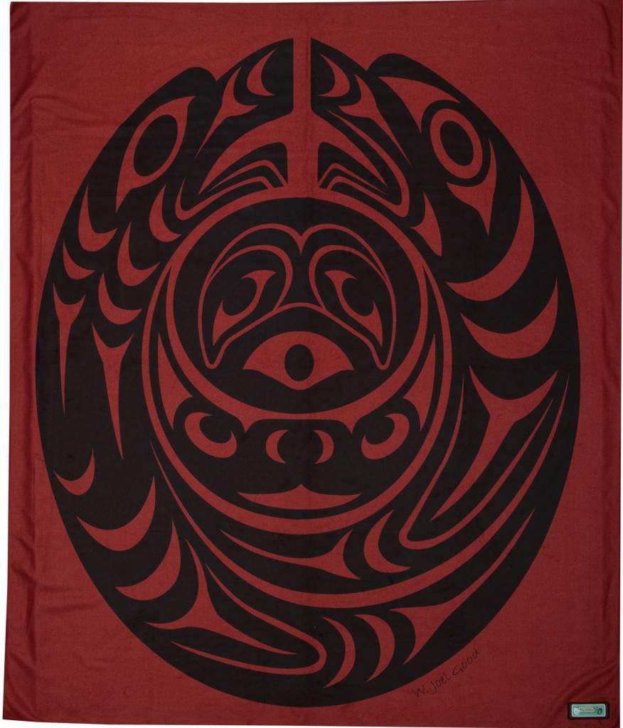 Fleece Salish Serpent Blankets Design by Joel Good (Nanaimo)