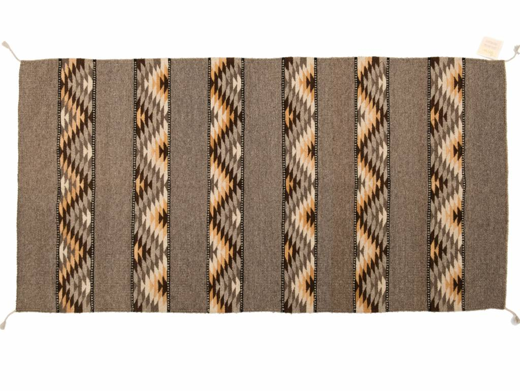 Large Handmade Rug (brown tones)