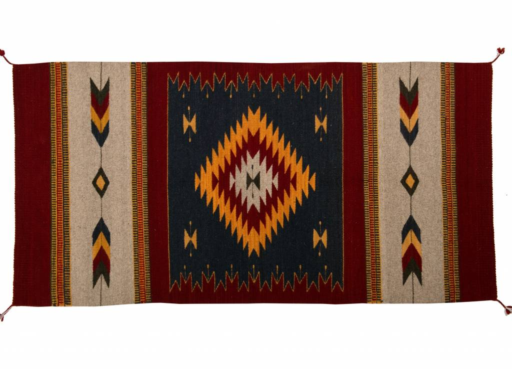 Large Handmade Coloured Rug
