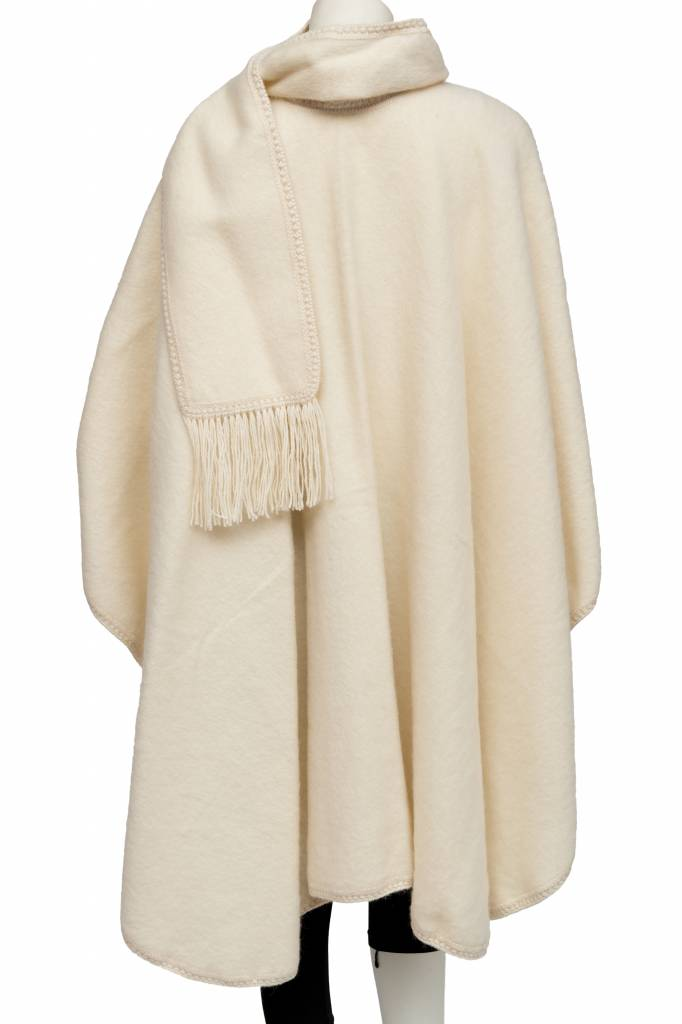 Unlined cape 100% alpaca