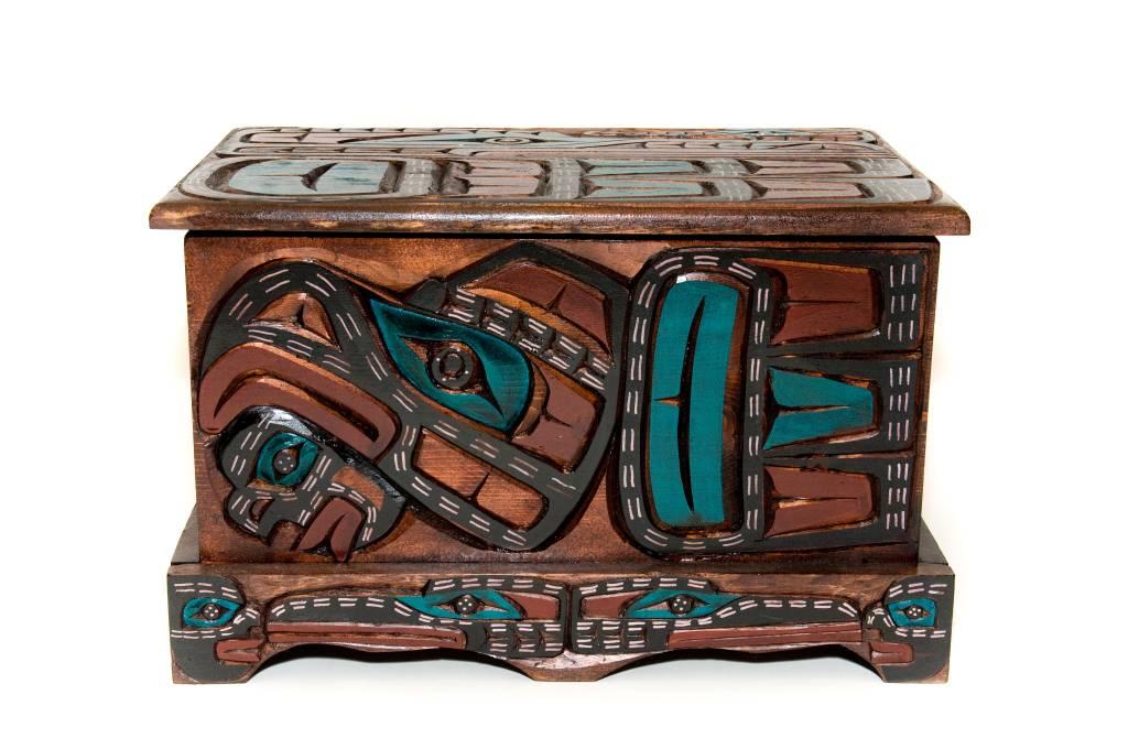 Eagle Dancer | Raven | Wolf Dancer Box (Kwagiulth)