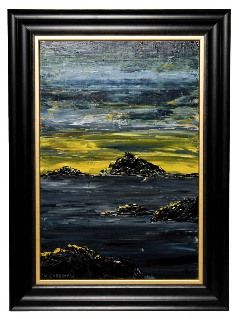 Framed Seascape 2 by Kevin Cardinal (Cree).