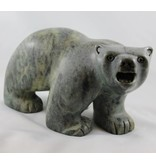 Soapstone Walking Bear by Rodney Kolausok (Inuit).