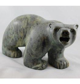 Soapstone Walking Bear (Inuit).