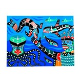 tsaw Painting - 'Undersea World' by Gord Hill (Kwakwakawakw).