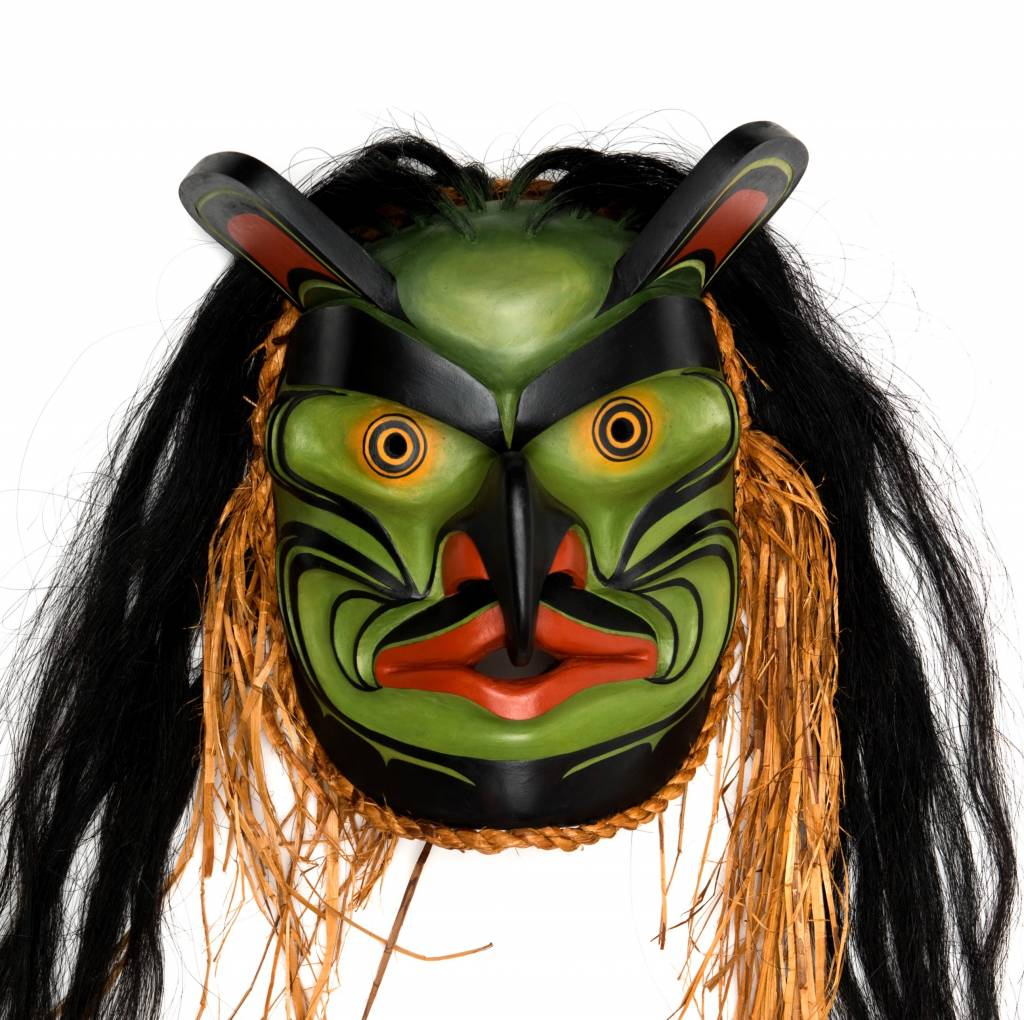 Bugwas Mask by Janice Morin (Cree) and Randy Stiglitz (Coast Salish)