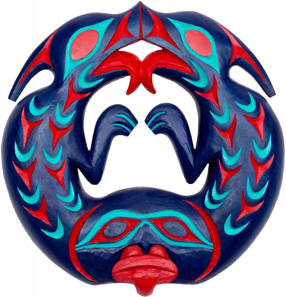 Round Two Headed Sea Serpent by Kieth Nahanee (Squamish).
