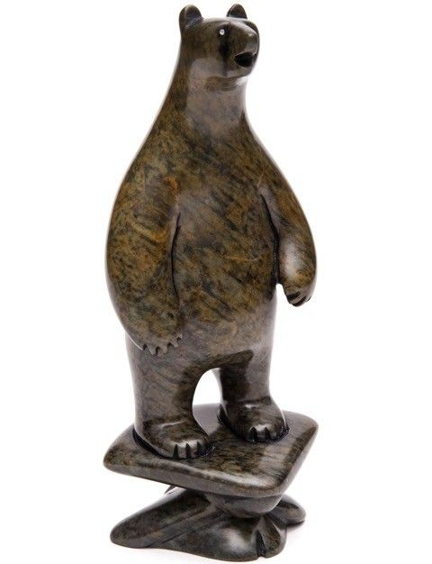Bear on Human Struggling by Howard Moose (Cree).