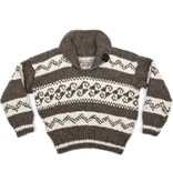 3XL Wave Pattern Cowichan Pullover (short back)