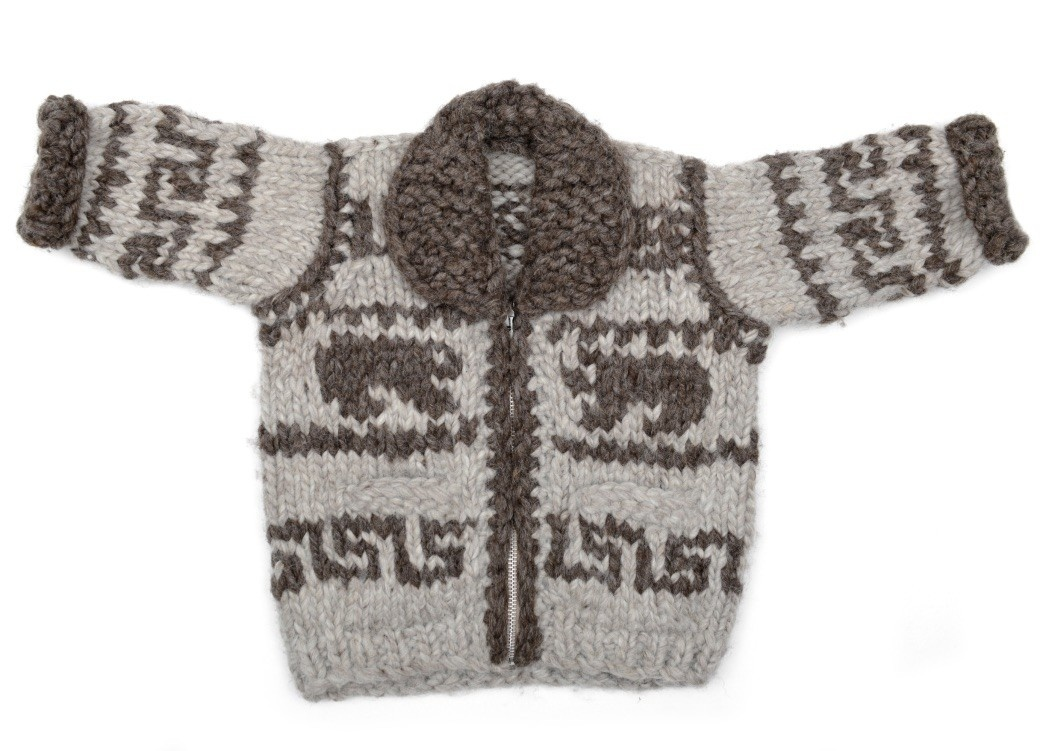 Infant child's Bear Cowichan Sweater
