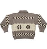 Snowflake Cowichan Sweater - size S