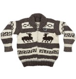 Deer Cowichan Sweater - size L