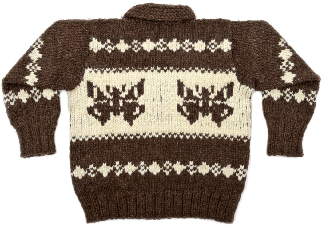 XL Butterfly Cowichan Sweater