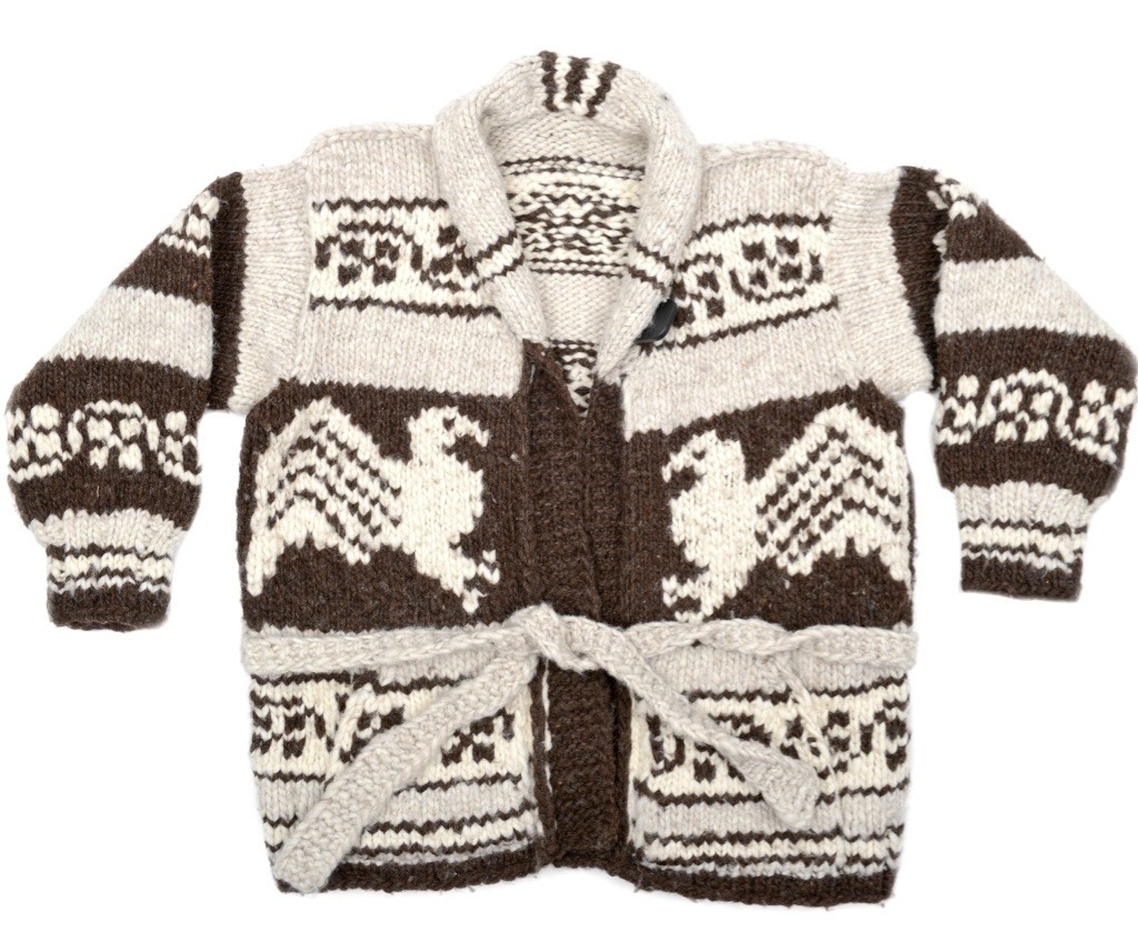 XXL Eagle Specialty Cowichan Sweater with Belt