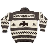 XL Cowichan Raven Sweater