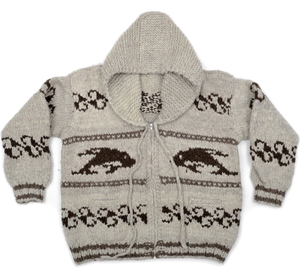 The Boxer - Plus size Orca Sweater with Zipper and Hood