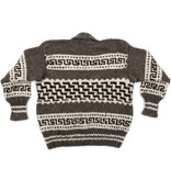 XXL Cowichan Sweater - Lightning Design