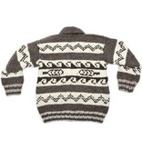 Feather / Wave Cowichan Sweater, size M