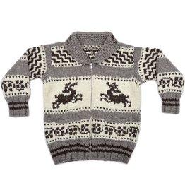 Large Sweater - Bounding Deer design