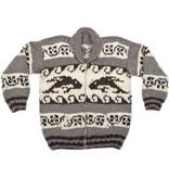 Orca / Wave Cowichan Sweater - size L