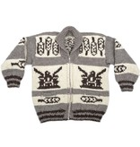 XL Eagle / Feathers Cowichan Sweater
