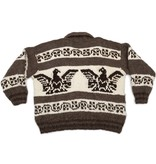 Plus size Cowichan Sweater Thunderbird design