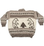 Huge Pullover Cowichan Sweater - Bear design