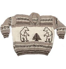 Huge Pullover Cowichan Sweater - Bear design