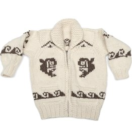 Small White Orca Cowichan Sweater