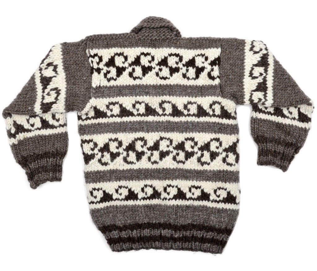 Small Wave design Cowichan Sweater