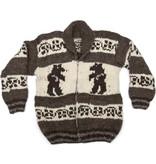 M/L Cowichan Sweater Bear design