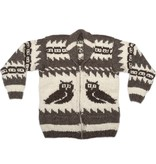Med. Cowichan Owl Sweater with Pockets