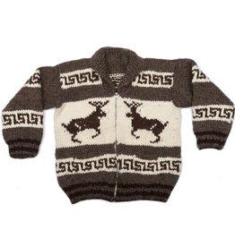 L. Cowichan Deer Sweater