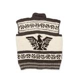 XXXL Cowichan Vest with zipper and Eagle design