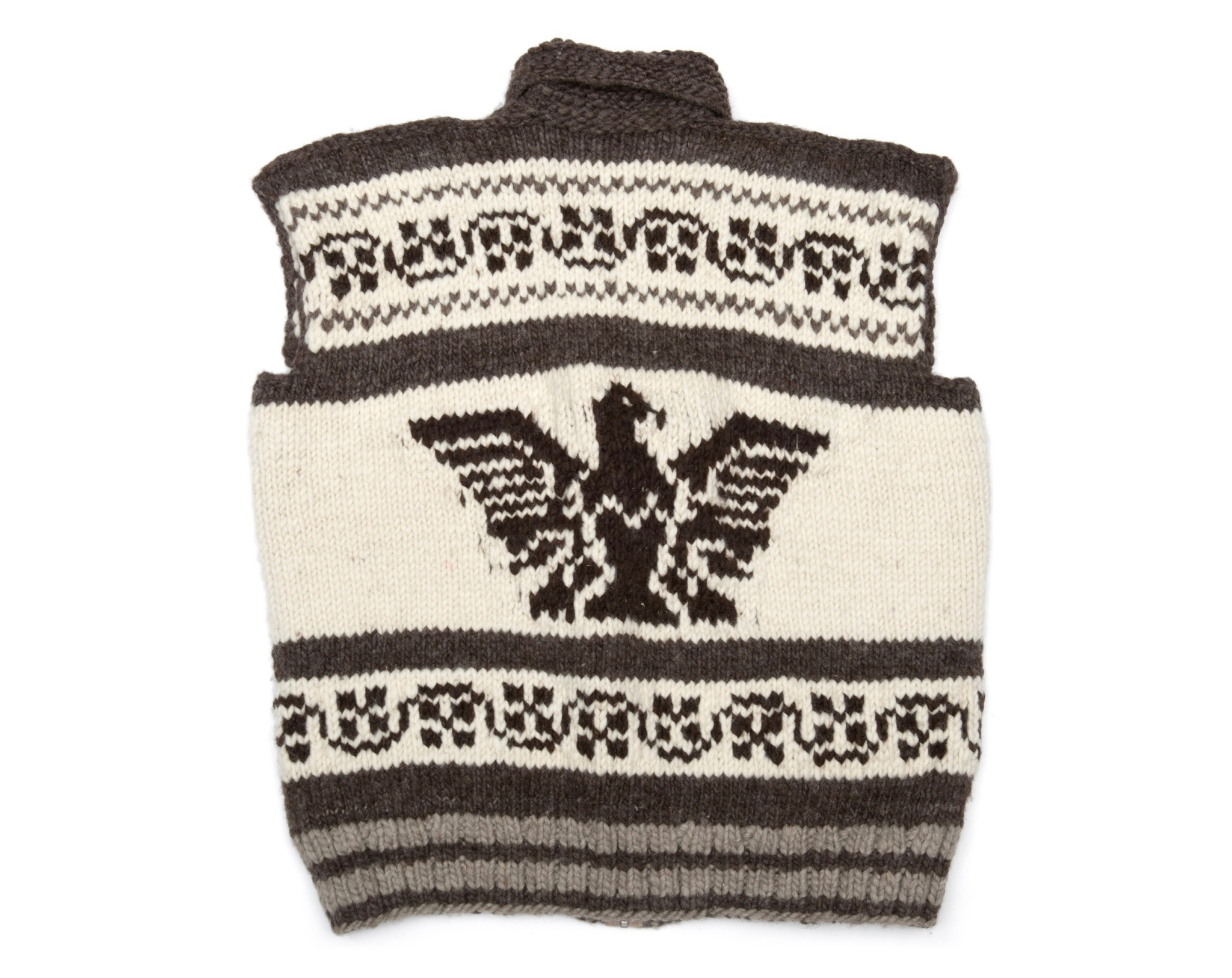 XXXL Cowichan Vest with zipper and Eagle design