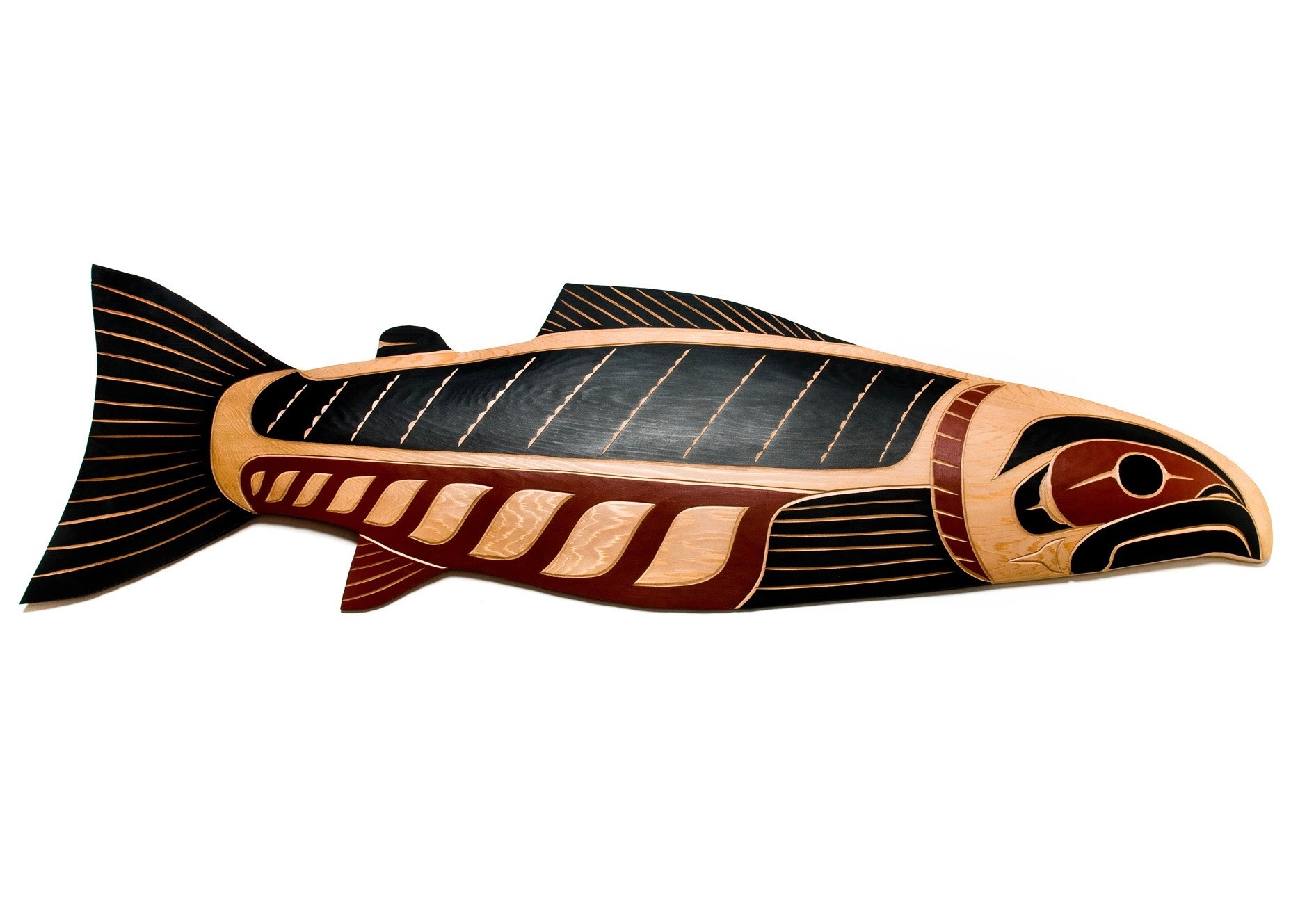 4' Salmon Plaque Coast Salish