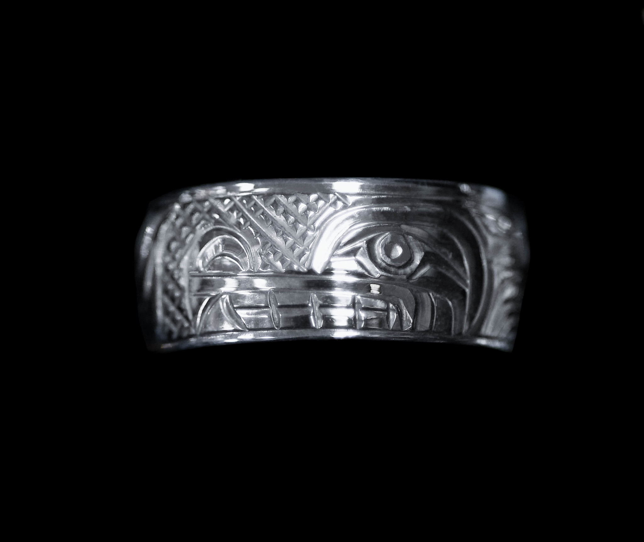 "3/8"" Wide Silver Rings"