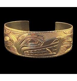 Mens Gold Wolf Bracelet