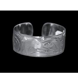 """Mens 1"""" Silver Eagle Bracelet"""